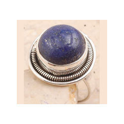 Handsome Lapis in 925 Sterling Silver Ring