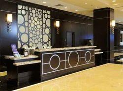 reception interior design hotel interior designs in durga vihar