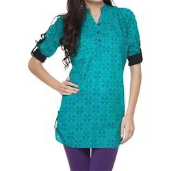 Sea Green Printed Tunic