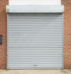 Galvanized Full Height Mild Steel Rolling Shutter, For Commercial