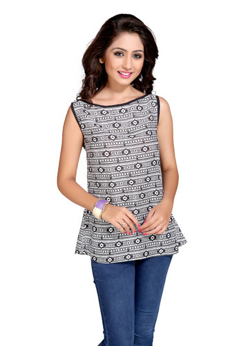 672b5b900a394 Tribal Print Cotton Womens Top - View Specifications   Details of ...