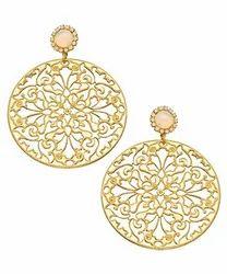 Gold Filigree Disc Earrings