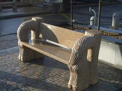 Granite Bench With Back Rest With Different Style