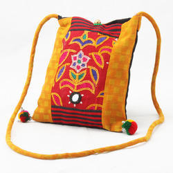 Cotton Emb & Jinse Hand Embroidered Bag
