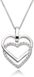 White Gold Plated Diamond Sterling Silver Pendant