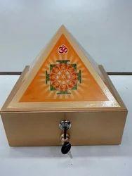 Wooden Pyramid Cash Drawer