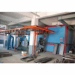 BSJS Iron Conveyorised Powder Coating Plant