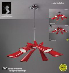 Pop Pendant 6 Light Red