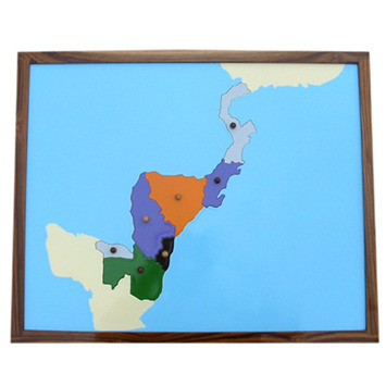 Puzzle Map - Central America | Montessori Store | Manufacturer in ...