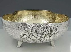 Diwali Gift -Silver Plated Fruit Bowl