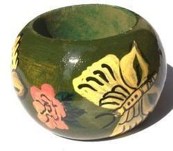 Multicolor Wooden Napkin Ring