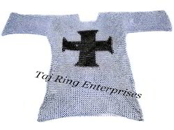 Templar Cross Chain Mail Shirt