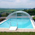游泳池围封