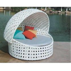 Single Bed White Outdoor Daybed