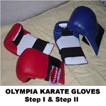 Red & Blue Olympia Karate Gloves Step 2