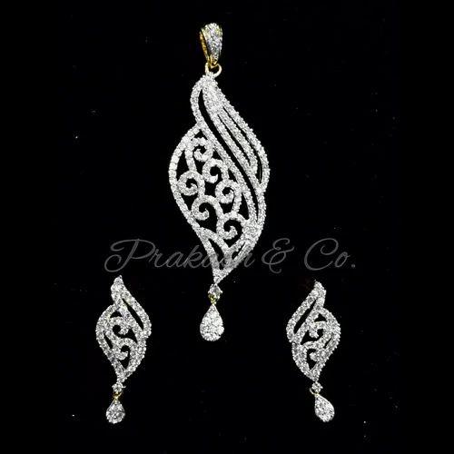 Prakash american diamond designer pendants sets rs 2100 piece id prakash american diamond designer pendants sets aloadofball Image collections