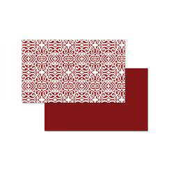 Floral Printed With Base Plain Red Fushing Place Mat