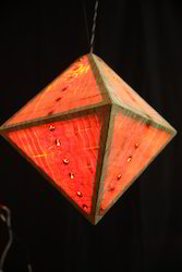 Pyramid Wooden Hanging Light