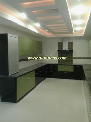 Modern Kitchen with Ceiling