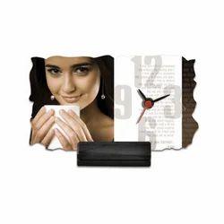 Wooden Base Sublimation Photo Frame Clock