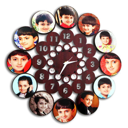 Personalized Sublimation Photo Wall Clock Nice Look