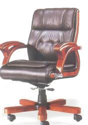 Black, Brown Leather Boss Jr Chair