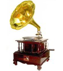 traditional wood gramophone
