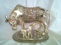 Meenakari Cow Statues