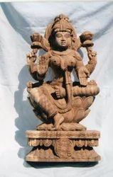 Wooden Lakshmi  2 feet KA
