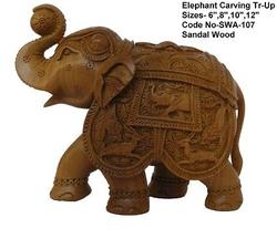 Carving Elephant Statue