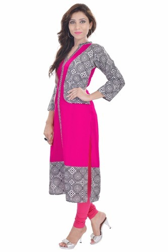Jacket Style Ladies Kurti At Rs 390 Piece S Ladies Kurta Id