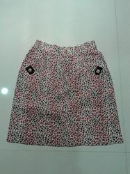 Printed Khadi Short Skirt