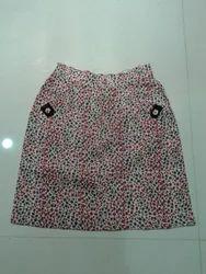 Printed Khadi Short Skirt
