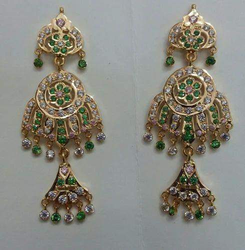 Rajputana Jewellery Artificial Stone And Metal Earrings Jai
