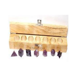 Metaphysical Products - Amethyst Geometry Set 7 Stone Exporter from