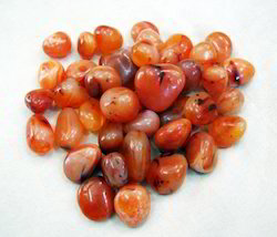 Red Carnelian Tumbled Pebbles, for Landscaping