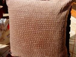 Velvet Kantha Work Cushion Cover