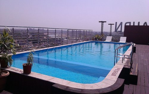 Terrace Pools frp swimming pool on terrace, fiber reinforced plastic swimming