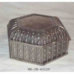MKI Hexagonal Brass Jewelry Boxes, For Home, Size/Dimension: Normal
