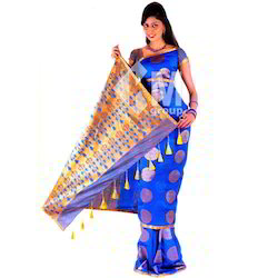 Embossed Art Silk Sarees