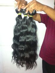 Human Hair Wavy Machine Weft