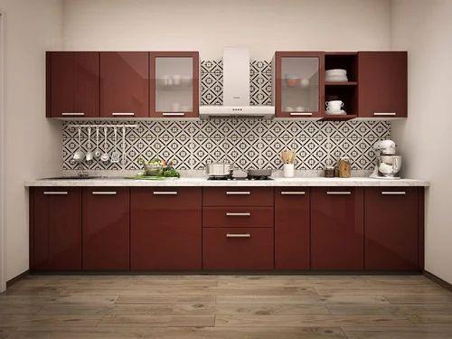straight modular kitchen cabinets designing services
