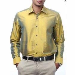 Light Golden Silk Shirt