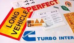 多色乙烯基标签和不干胶,尺寸:定制,包装类型:盒