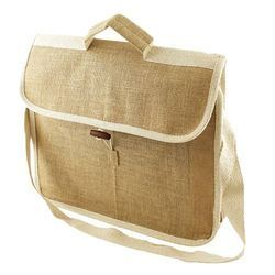 Flip Closure Jute Conference Bag