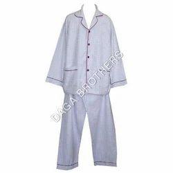 Nightwear Plain Men's Night Suits Fabric