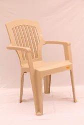 Stripe Square Back Plastic Chair