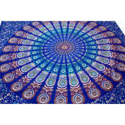 Jaipuri Multi Colored Cotton Wall Hanging Tapestry, Weight: 950 Grams