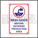 140796 Wash Hands Instructions Name Plates