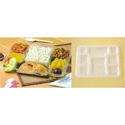 White Plastic Disposable Plate & Thali Lid for Restaurant